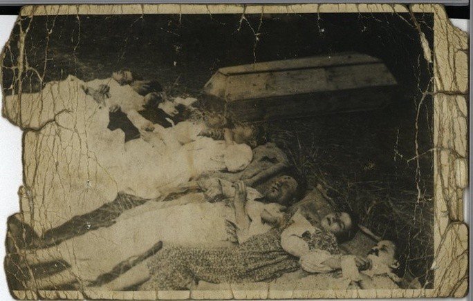 Rodzina Rudnickich zamordowana przez UPA (Fot. IPN)