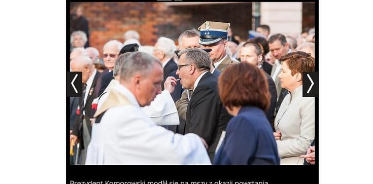 Bronisław Komorowski przyjął Komunię świętą... - zdjęcie
