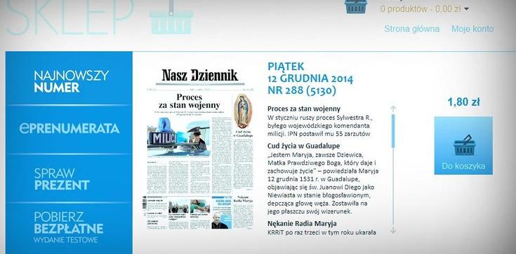 """""""Nasz Dziennik"""" wprowadza opłaty za elektroniczne wydanie - zdjęcie"""