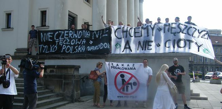 """Narodowcy bojkotują """"homo-sklepy"""". """"Ani centymetra więcej dla homopropagandy!"""" - zdjęcie"""