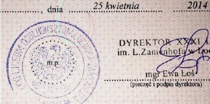Świadectwo licealne przypieczętowane orłem z...PRL - zdjęcie