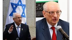 Jak obecny prezydent Izraela ,,niepoczytalnie'' atakował Polskę. Wspomina Władysław Bartoszewski - miniaturka