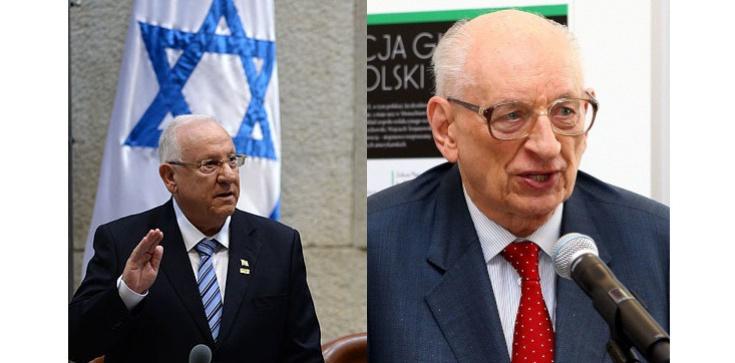 Jak obecny prezydent Izraela ,,niepoczytalnie'' atakował Polskę. Wspomina Władysław Bartoszewski - zdjęcie