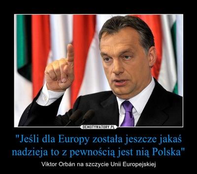 Orban: Polska jedyną nadzieją dla Europy!