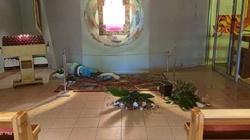 [Zdjęcia] Konin. Furiat niszczył kaplicę Najświętszego Sakramentu jak opętany - miniaturka