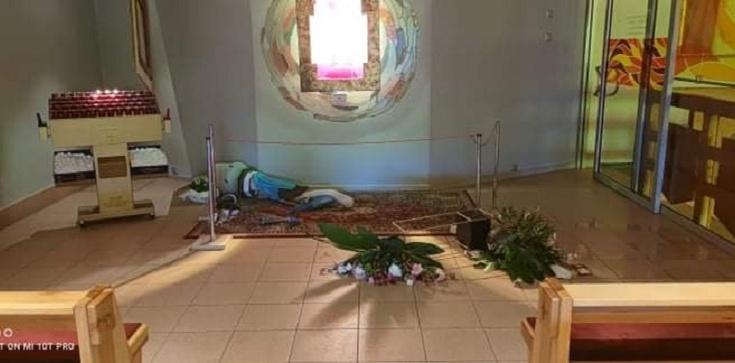 [Zdjęcia] Konin. Furiat niszczył kaplicę Najświętszego Sakramentu jak opętany - zdjęcie