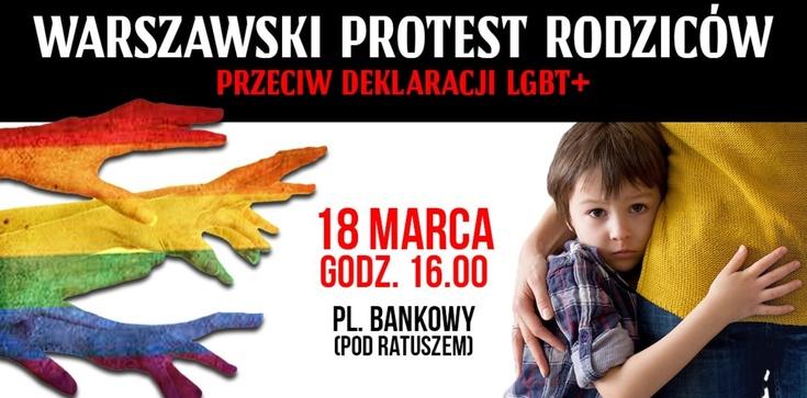Dziś w Warszawie protest przeciw deprawacji - PRZYJDŹCIE!!! - zdjęcie