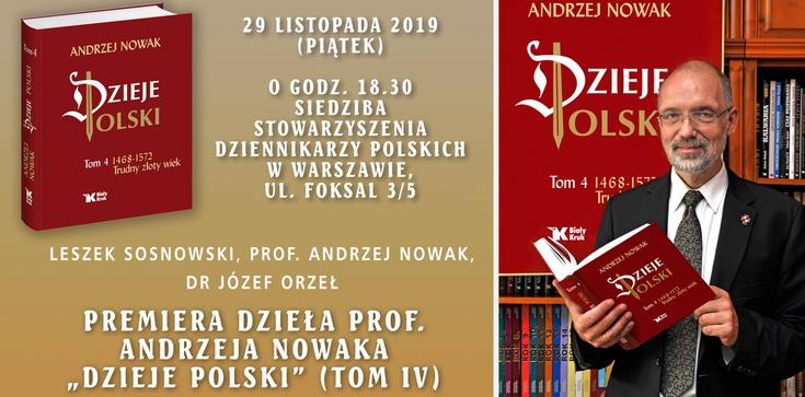 Premiera ,,Dziejów Polski''. Zapraszamy na spotkanie z Autorem - zdjęcie