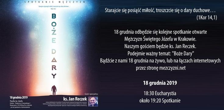 ,,Boże dary''. Zapraszamy na spotkanie do Krakowa! - zdjęcie