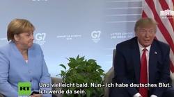 Angela Merkel wyśmiała ,,niemiecką krew'' Trumpa - miniaturka
