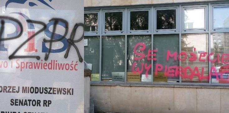 Seria ataków na biura polityków PiS. Złapano 1 osobę - zdjęcie
