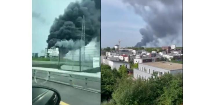 [Wideo] Wybuch w fabryce koncernu farmaceutycznego Bayer w Leverkusen - zdjęcie