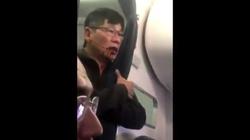 Barbarzyństwo w USA! Brutalnie wyrzucili go z samolotu FILM - miniaturka