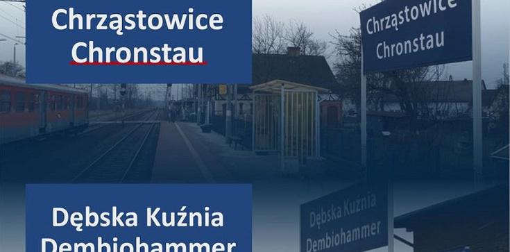 Tu jest Polska. Poseł Kowalski chce usunięcia niemieckich nazw stacji PKP - zdjęcie