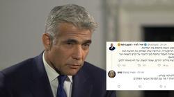 Izraelscy internauci ostro odradzają Lapidowi wyłudzanie od Polaków pieniędzy - miniaturka