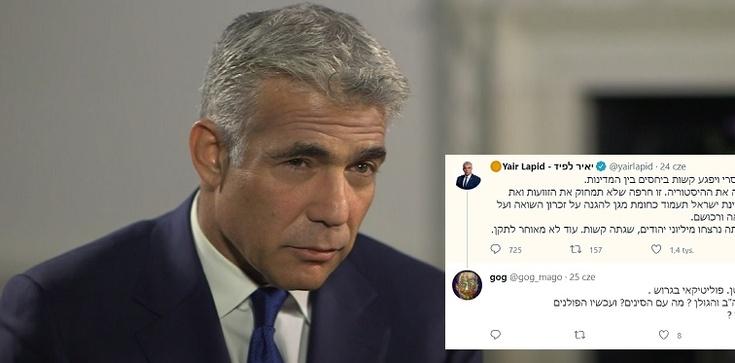 Izraelscy internauci ostro odradzają Lapidowi wyłudzanie od Polaków pieniędzy - zdjęcie
