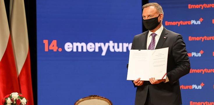 Ustawa o tzw. 14. emeryturze podpisana przez Prezydenta - zdjęcie