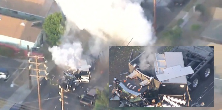 [Wideo] USA. W ,,kontrolowanej'' detonacji 2.5 tony fajerwerków 17 osób zostało rannych - zdjęcie