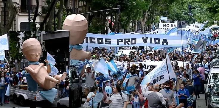 Argentyna. Tysiące protestujących przeciwko aborcji na życzenie - zdjęcie