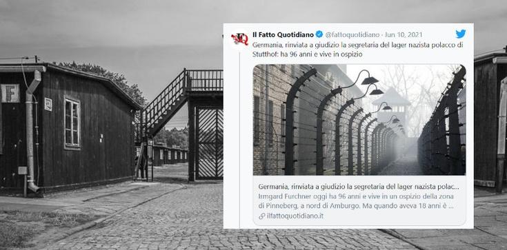 Skandaliczny nagłówek we włoskiej prasie! ,,Polski obóz koncentracyjny w  Stutthofie'' - zdjęcie