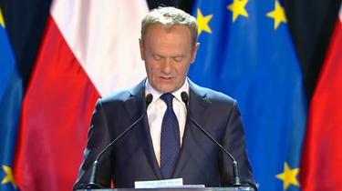 Tusk pochwalił się swoim niemieckim! Wychwalając polityków CDU, wzywał ich do większej stanowczości  - miniaturka