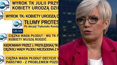 TVN atakuje prezes TK Julię Przyłębską paskami grozy - miniaturka