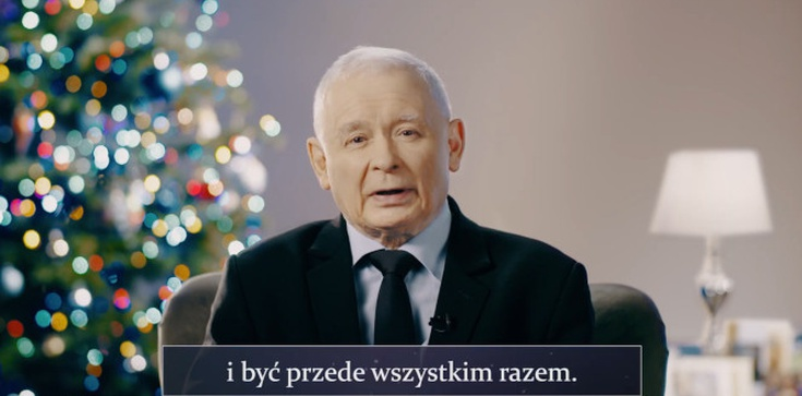 Życzenia wicepremiera Jarosława Kaczyńskiego: ,,Jesteśmy rodziną!'' - zdjęcie