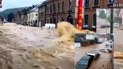 [Wideo] Belgia. Krytyczna sytuacja powodziowa. Na ewakuację czeka też 65 polskich dzieci - miniaturka