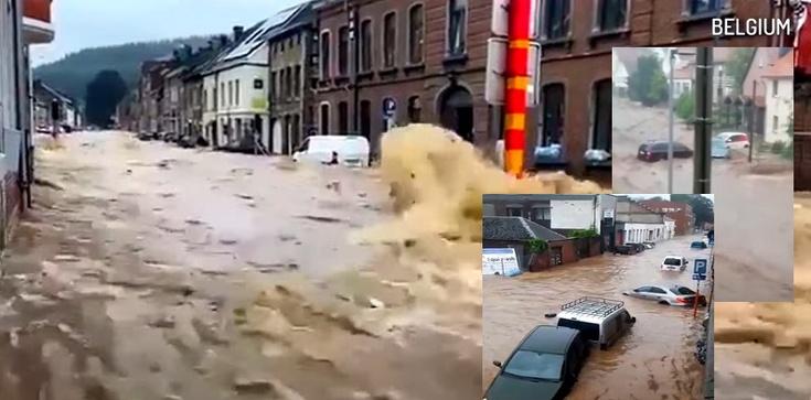 [Wideo] Belgia. Krytyczna sytuacja powodziowa. Na ewakuację czeka też 65 polskich dzieci - zdjęcie