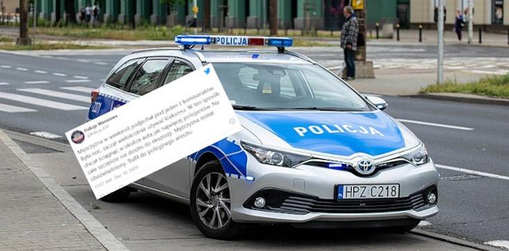 Próba zamachu na warszawskich policjantów. Mężczyzna chciał wysadzić samochód  - zdjęcie