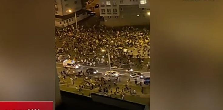 Z ostatniej chwili. Zamieszki na Białorusi po wyborach prezydenckich. Doszło do starć z policją - zdjęcie