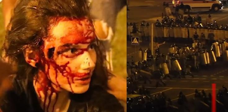 Białoruś. Zamieszki. Użyto gumowych kul, granatów hukowych, armatek wodnych - zdjęcie