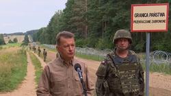 Szef MON o płocie na granicy z Białorusią: Już 80 km zostało zbudowane - miniaturka
