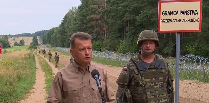 Szef MON o płocie na granicy z Białorusią: Już 80 km zostało zbudowane - zdjęcie