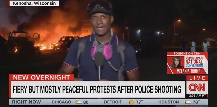 """Szok! USA. """"Gorące, ale pokojowe protesty"""" według CNN - zdjęcie"""
