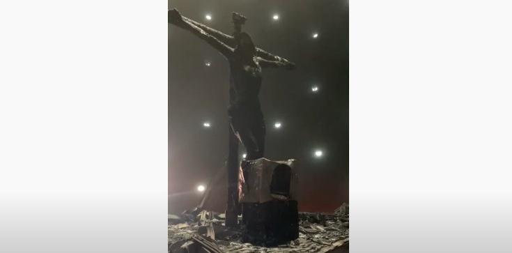 Atak na katedrę w Nikaragui (video) - zdjęcie