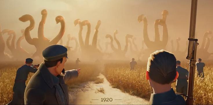 (Wideo) Bolszewicy jak zmutowane diplodoki. Piękna animacja z okazji 100-lecia niepodległości - zdjęcie