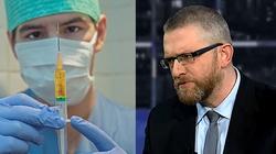 Antyszczepionkowcy z Grzegorzem Braunem zakłócili konferencję Adama Niedzielskiego - miniaturka