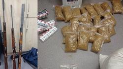 Cela plus! Aresztowanym zatrzymano narkotyki, alkohol bez akcyzy, kradzione pojazdy, nielegalną broń  - miniaturka