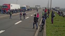 """Jak kierowcy radzą sobie z """"uchodźcami"""" w Calais [WIDEO] - miniaturka"""