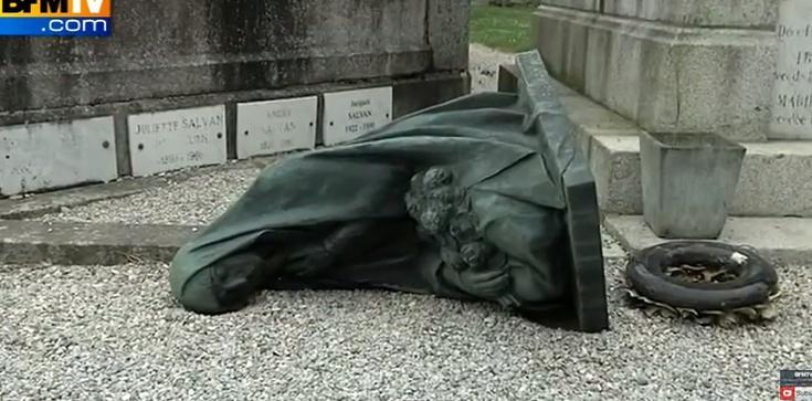 Niebywała profanacja cmentarza we Francji! FILM - zdjęcie