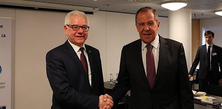 Jacek Czaputowicz spotkał się z Ławrowem. Minister upomniał się o zwrot wraku Tu-154M - zdjęcie