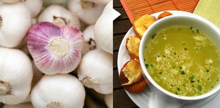 Antywirusowy i antybakteryjny czosnek w rozgrzewającej zupie - zdjęcie