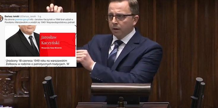 Odlot! Joński z KO: J. Kaczyński brał udział w Powstaniu Warszawskim? - zdjęcie