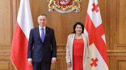 ,,Jesteśmy bardzo dumni, że w Polsce mamy takie duże wsparcie''. Prezydent Gruzji dziękuje Polakom - miniaturka
