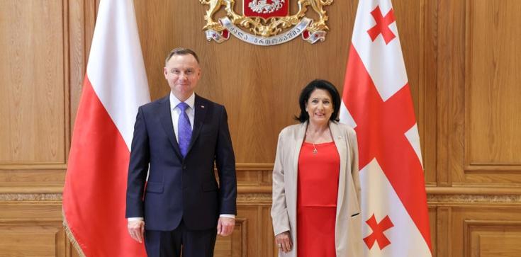 ,,Jesteśmy bardzo dumni, że w Polsce mamy takie duże wsparcie''. Prezydent Gruzji dziękuje Polakom - zdjęcie