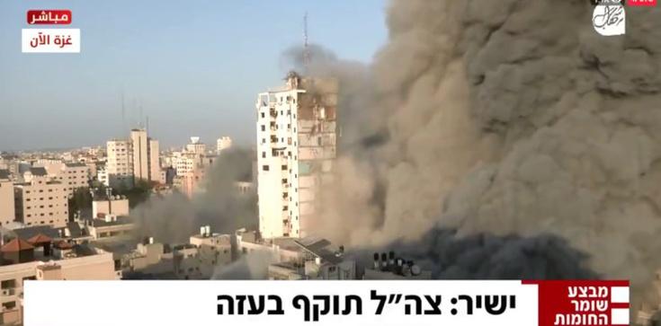 Izrael wysadził kolejny wieżowiec. Zniszczono m.in. biura palestyńskiej telewizji - zdjęcie