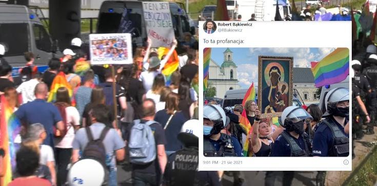 Profanacja na marszu LGBT w Częstochowie. Jest zawiadomienie do prokuratury - zdjęcie