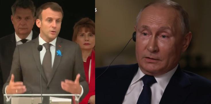 Jak zapowiedział, tak też zrobił. Macron rozmawiał z Putinem o poprawie relacji - zdjęcie