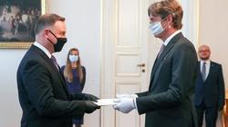 Prezydent przyjął list uwierzytelniający ambasadora Niemiec - miniaturka